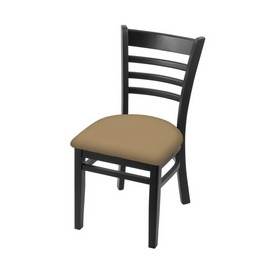 """3140 18"""" Chair with Black Finish and Canter Sand Seat"""