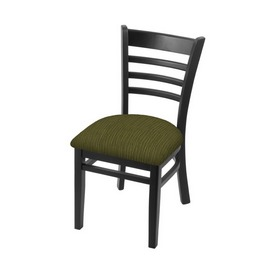 """3140 18"""" Chair with Black Finish and Graph Parrot Seat"""
