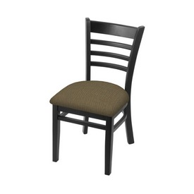 """3140 18"""" Chair with Black Finish and Graph Cork Seat"""