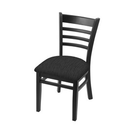 """3140 18"""" Chair with Black Finish and Graph Coal Seat"""