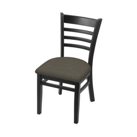 """3140 18"""" Chair with Black Finish and Graph Chalice Seat"""