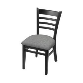 """3140 18"""" Chair with Black Finish and Graph Alpine Seat"""