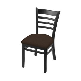 """3140 18"""" Chair with Black Finish and Rein Coffee Seat"""
