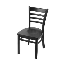 """3140 18"""" Chair with Black Finish and Black Seat"""