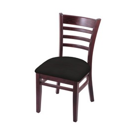 """3140 18"""" Chair with Dark Cherry Finish and Canter Espresso Seat"""