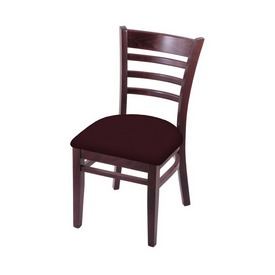 """3140 18"""" Chair with Dark Cherry Finish and Canter Bordeaux Seat"""