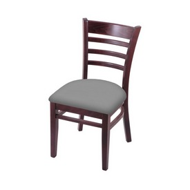 """3140 18"""" Chair with Dark Cherry Finish and Canter Folkstone Grey Seat"""