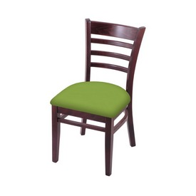 """3140 18"""" Chair with Dark Cherry Finish and Canter Kiwi Green Seat"""