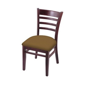 """3140 18"""" Chair with Dark Cherry Finish and Canter Saddle Seat"""