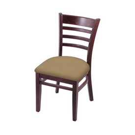 """3140 18"""" Chair with Dark Cherry Finish and Canter Sand Seat"""