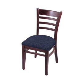 """3140 18"""" Chair with Dark Cherry Finish and Graph Anchor Seat"""