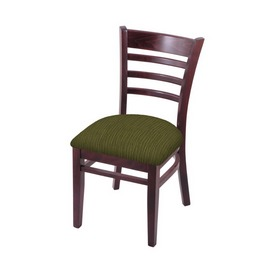 """3140 18"""" Chair with Dark Cherry Finish and Graph Parrot Seat"""