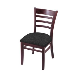 """3140 18"""" Chair with Dark Cherry Finish and Graph Coal Seat"""