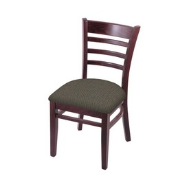 """3140 18"""" Chair with Dark Cherry Finish and Graph Chalice Seat"""