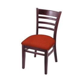 """3140 18"""" Chair with Dark Cherry Finish and Graph Poppy Seat"""