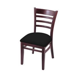"3140 18"" Chair with Dark Cherry Finish and Black Vinyl Seat"