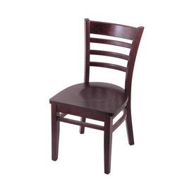 """3140 18"""" Chair with Dark Cherry Finish and Dark Cherry Seat"""