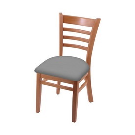 """3140 18"""" Chair with Medium Finish and Canter Folkstone Grey Seat"""