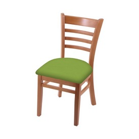 """3140 18"""" Chair with Medium Finish and Canter Kiwi Green Seat"""