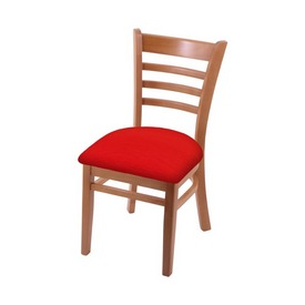 """3140 18"""" Chair with Medium Finish and Canter Red Seat"""
