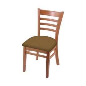 """3140 18"""" Chair with Medium Finish and Canter Saddle Seat"""