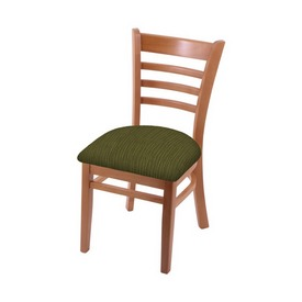 """3140 18"""" Chair with Medium Finish and Graph Parrot Seat"""