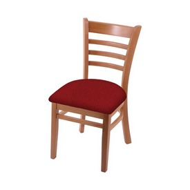 """3140 18"""" Chair with Medium Finish and Graph Ruby Seat"""