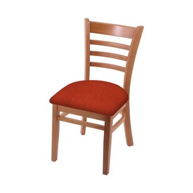 """3140 18"""" Chair with Medium Finish and Graph Poppy Seat"""