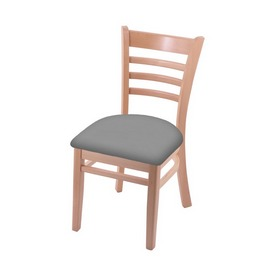 """3140 18"""" Chair with Natural Finish and Canter Folkstone Grey Seat"""