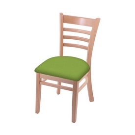 """3140 18"""" Chair with Natural Finish and Canter Kiwi Green Seat"""