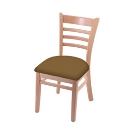"""3140 18"""" Chair with Natural Finish and Canter Saddle Seat"""