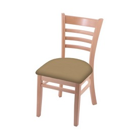 """3140 18"""" Chair with Natural Finish and Canter Sand Seat"""