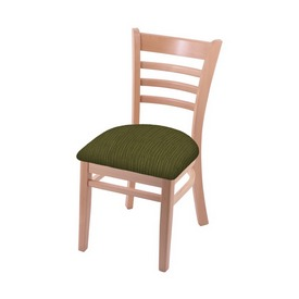 """3140 18"""" Chair with Natural Finish and Graph Parrot Seat"""