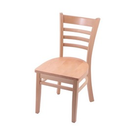 """3140 18"""" Chair with Natural Finish and Natural Seat"""