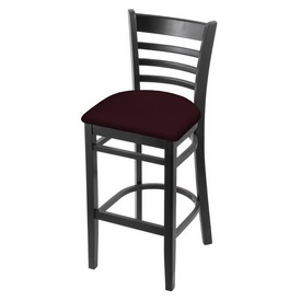 3140 Stool with Black Finish and Canter Bordeaux Seat