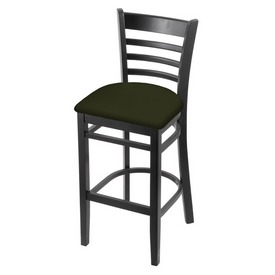 3140 Stool with Black Finish and Canter Pine Seat