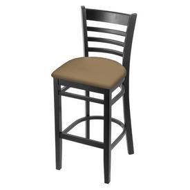 3140 Stool with Black Finish and Canter Sand Seat