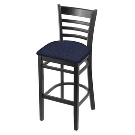 3140 Stool with Black Finish and Graph Anchor Seat