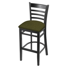 3140 Stool with Black Finish and Graph Parrot Seat