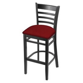 3140 Stool with Black Finish and Graph Ruby Seat