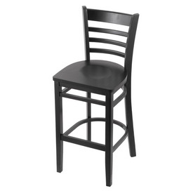 3140 Stool with Black Finish and Black Seat