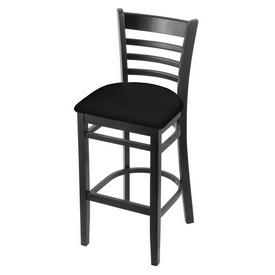 3140 Stool with Black Finish and Black Vinyl Seat