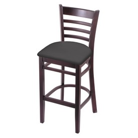 3140 Stool with Dark Cherry Finish and Canter Storm Seat