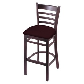 3140 Stool with Dark Cherry Finish and Canter Bordeaux Seat