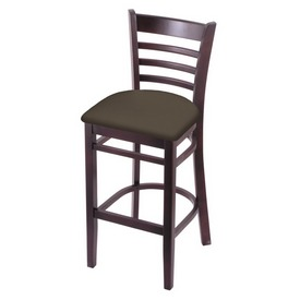 3140 Stool with Dark Cherry Finish and Canter Earth Seat