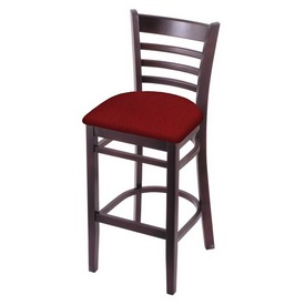 3140 Stool with Dark Cherry Finish and Graph Ruby Seat
