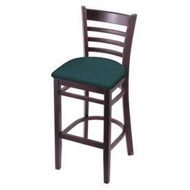3140 Stool with Dark Cherry Finish and Graph Tidal Seat