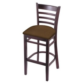 3140 Stool with Dark Cherry Finish and Rein Thatch Seat