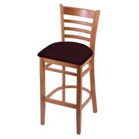3140 Stool with Medium Finish and Canter Bordeaux Seat