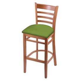 3140 Stool with Medium Finish and Canter Kiwi Green Seat